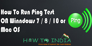 How To Run Ping  Test ON WinNDOWS  7 / 8 / 10 / Mac