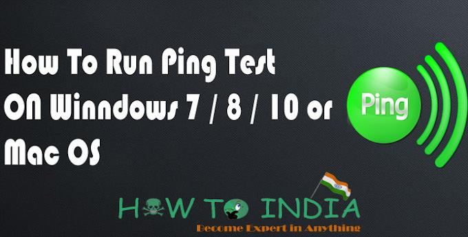 How To Run / Use Ping Test Win 7 / 8 / 10 / Mac 2017