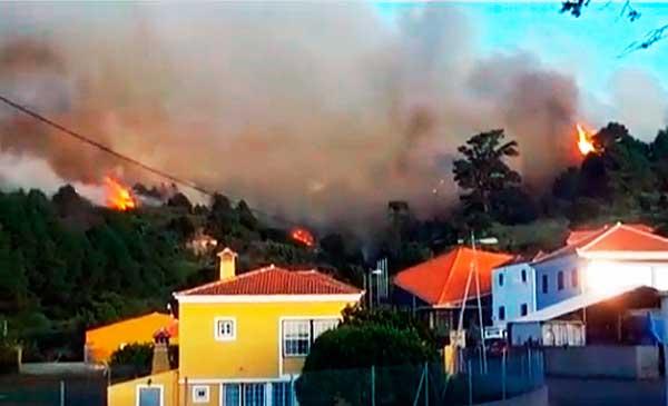 El Incendio forestal en Garafía ha quedado estabilizado gracias a la lluvia. Se trabaja para que pronto pueda ser controlado
