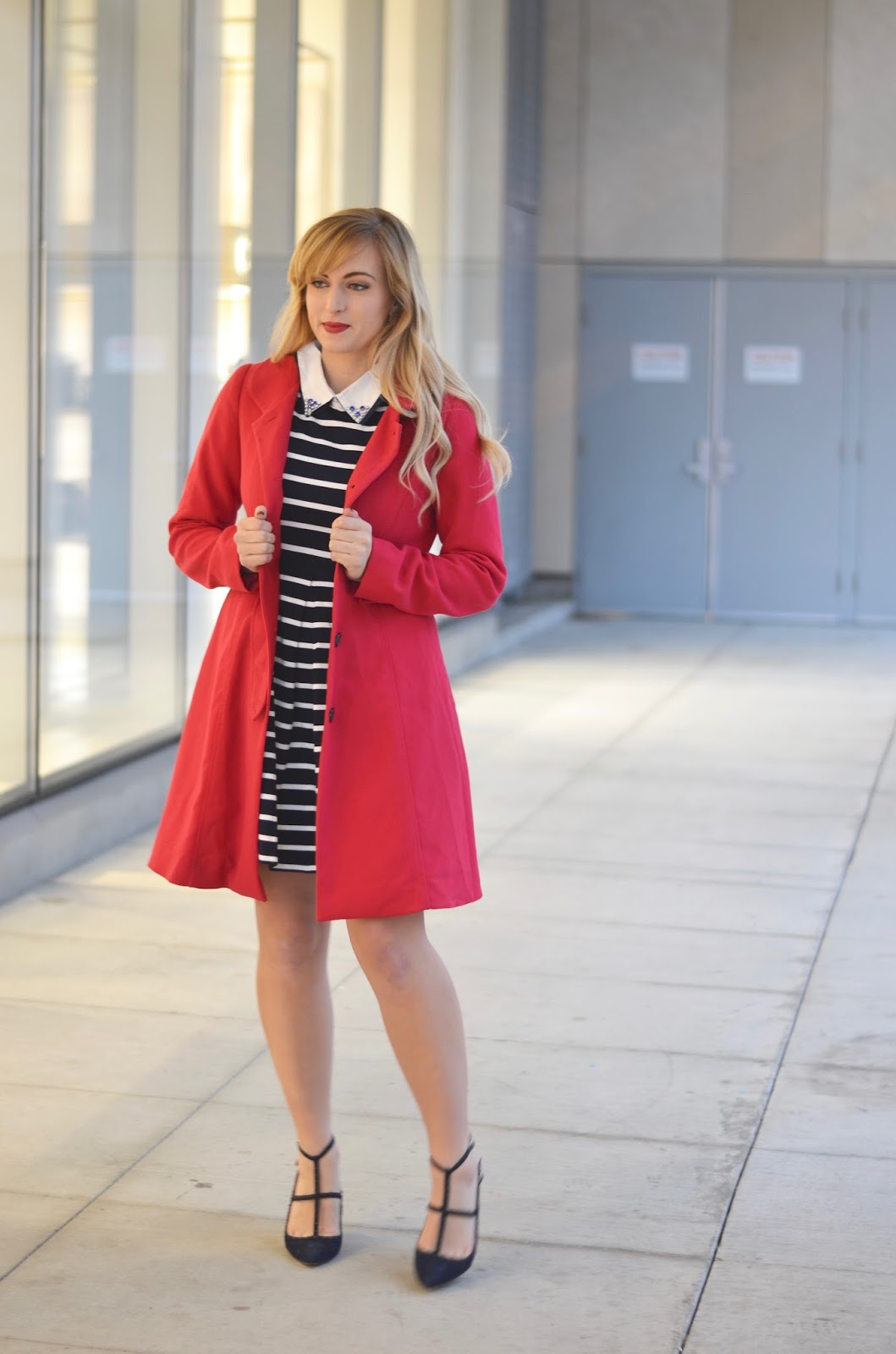 red-knee-length-trench-coat