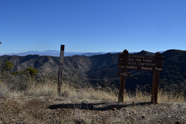 top of the trail marked by a large, wooden sign
