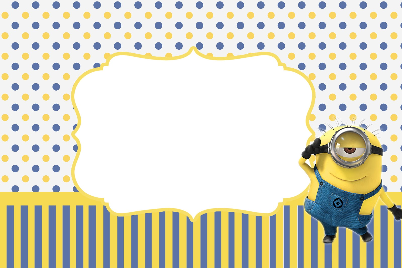 inspired in minions party invitations