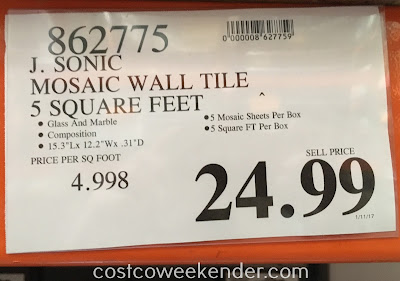 Deal for Golden Select Glass and Stone Mosaic Wall Tiles at Costco