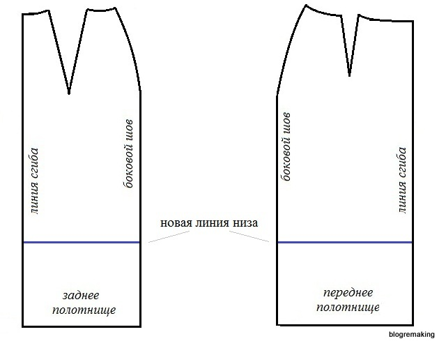 Базовая выкройка прямой юбки