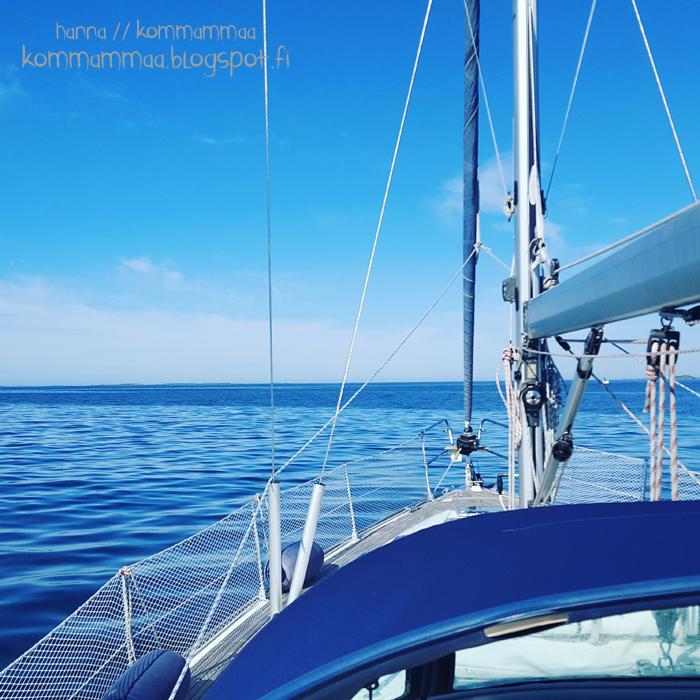 purjehdus purjehtia sininen vene purjevene suomen kesä 2016 suomi