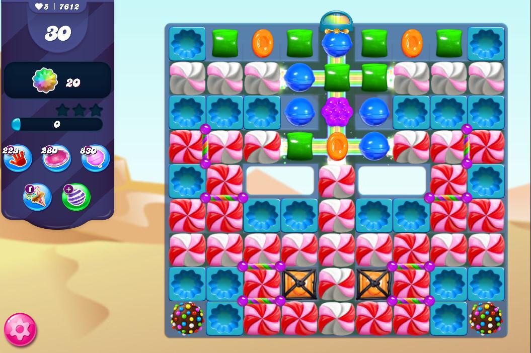 Candy Crush Saga level 7612
