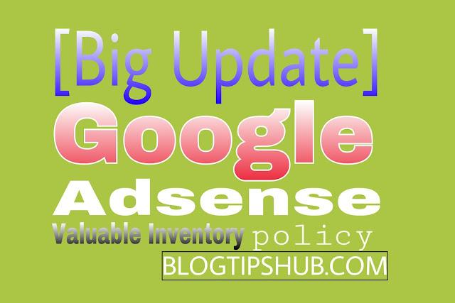 Adsense valuable inventory policy kya hai