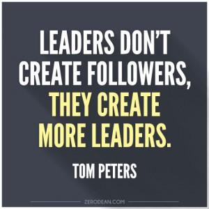 pemimpin menciptakan pemimpin