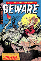 Beware v2 #10 golden age horror comic book cover art by Frank Frazetta