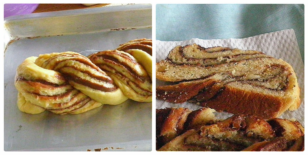 Braided Nutella Bread Recipe @ http://treatntrick.blogspot.com