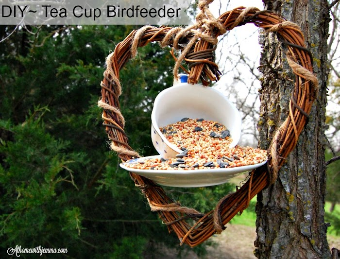 DIY~Tea Cup Birdfeeder