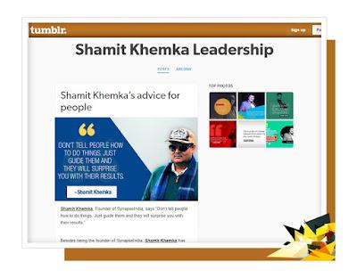 shamit khemka leadership tumblr