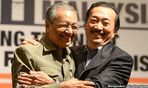 Image result for vincent tan celebrate birth for tun dr mahathir picture