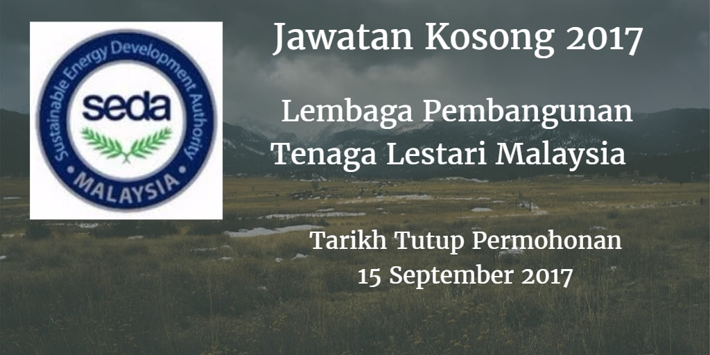 Jawatan Kosong SEDA 15 September 2017