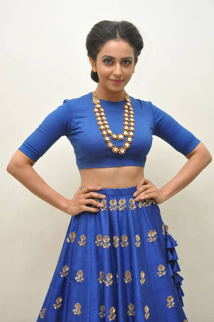 Rakul Preet Singh Latest Photo Shoot In Hot Blue Dress