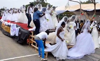 200 Brides Ride In A Truck To Their Mass Wedding In Uganda
