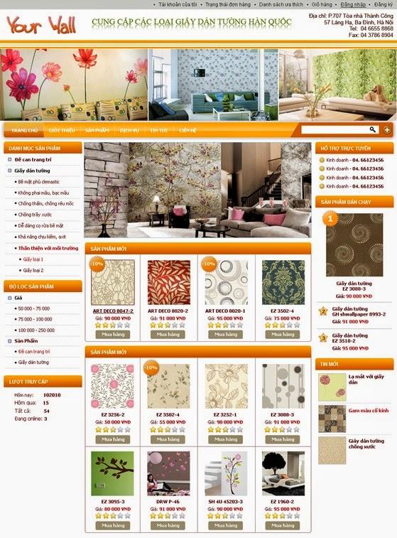dịch vụ thiết kế web bán hàng bàn ghế