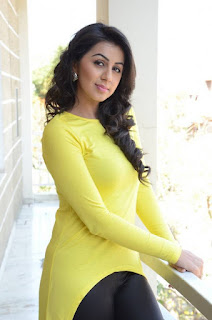 Actress Nikki Galrani Latest Picture Gallery in Yellow Top and Tights  0010