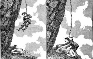 Inaiá sendo salva pelo Alberto - in Zé Caipora