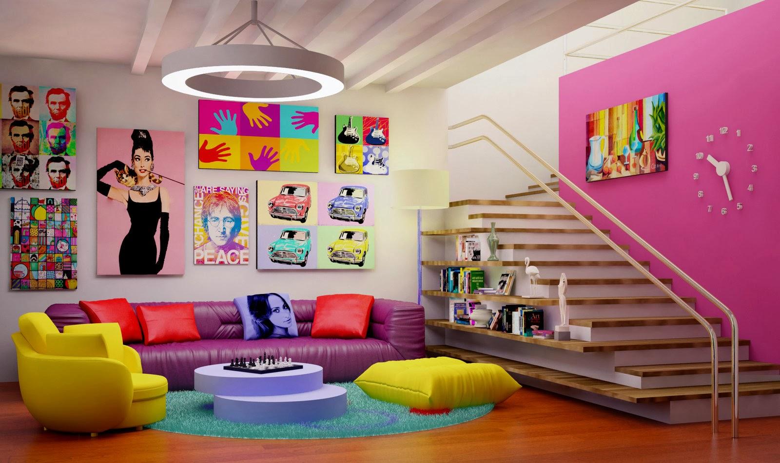 fernanda aprendiz de arquiteta o estilo pop art decora o com irrever ncia. Black Bedroom Furniture Sets. Home Design Ideas