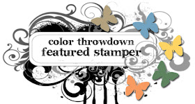 I was featured stamper for colorthrowdown  Aug 7th 2012