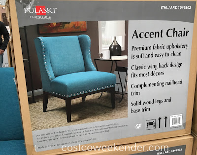 Costco 1049302 - Pulaski Fabric Accent Chair: great for any home's living room or family room