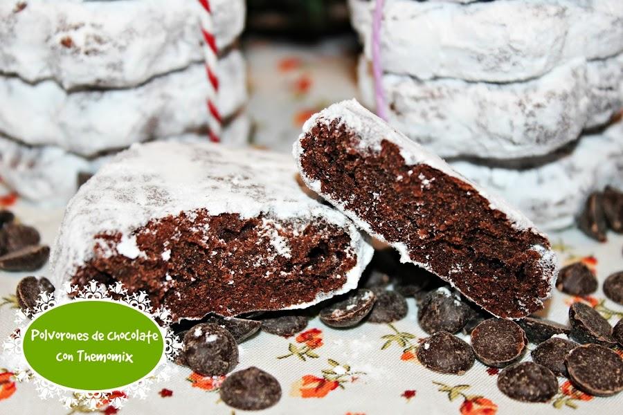 POLVORONES DE CHOCOLATE CON THERMOMIX