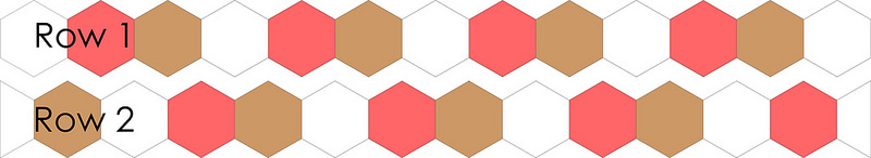 Hexagon Template | Tutorial Machine Piecing Hexagons | © Red Pepper Quilts 2017