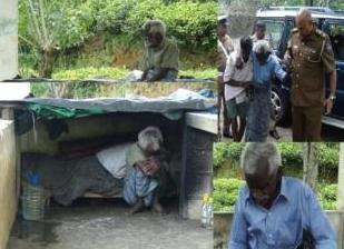 Old Man lives in Maskeliya cemetery For Four Years