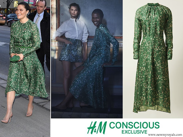 Crown Princess Victoria wore H&M dress from H&M Conscious Exclusive Collection 2018