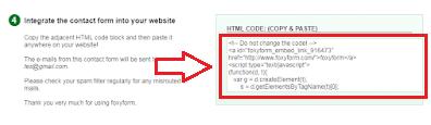 Contoh gambar kode HTML