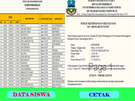 Aplikasi Surat Keterangan Kelulusan