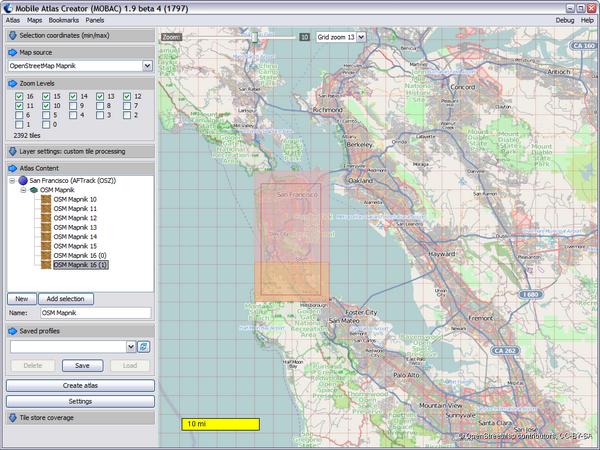 Mobile Atlas Creator 2.0.0 - Δημιουργήστε χάρτες για το GPS σας