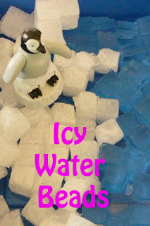 Icy Water Bead Cubes Make a Fun Arctic Sensory Bin
