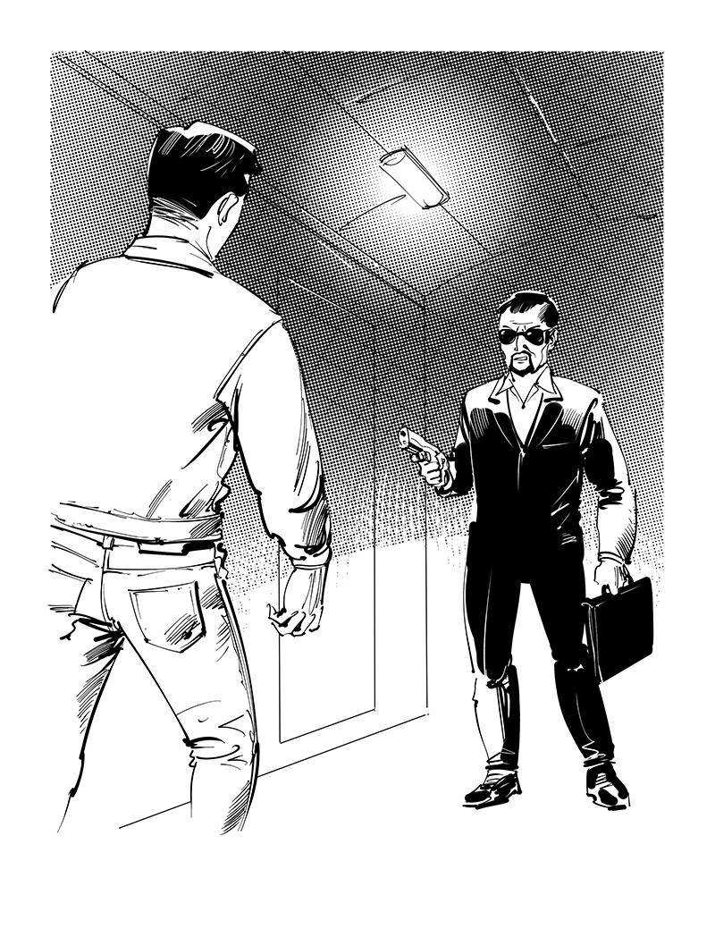 feluda fan fiction black white illustration for tagbag
