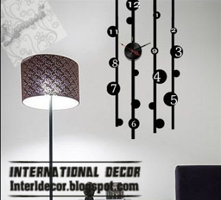 Home Exterior Designs: Modern wall clock stickers styles ...