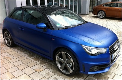 configuration audi a1 1 4 tfsi 185 bleu mat. Black Bedroom Furniture Sets. Home Design Ideas