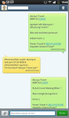 akcayatour, Travel Blitar Malang, Travel Malang Blitar