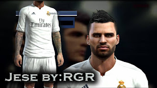 Face Jese Rodriguez + Tattoo Pes 2013