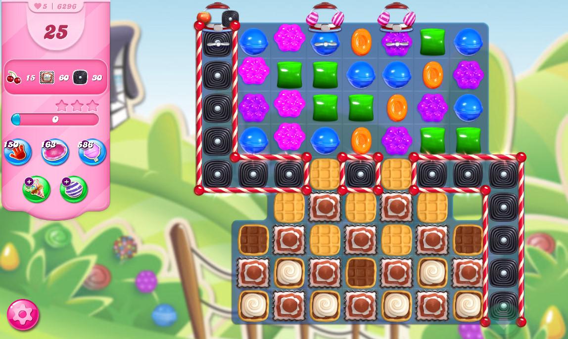 Candy Crush Saga level 6296