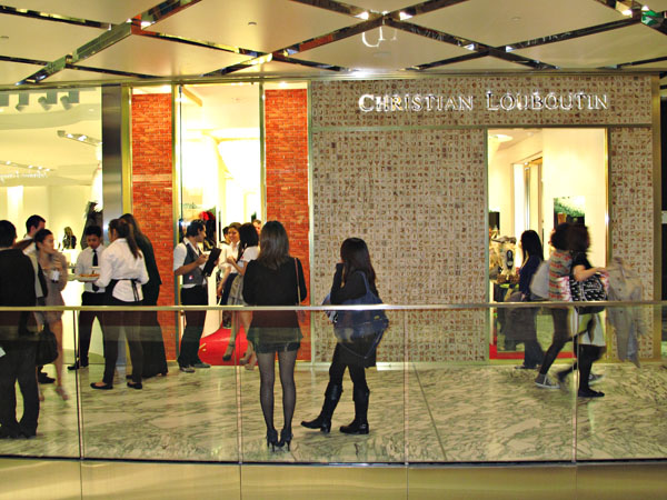Christian Louboutin store, Westfield Sydney Vogue Fashion's Night Out 2011