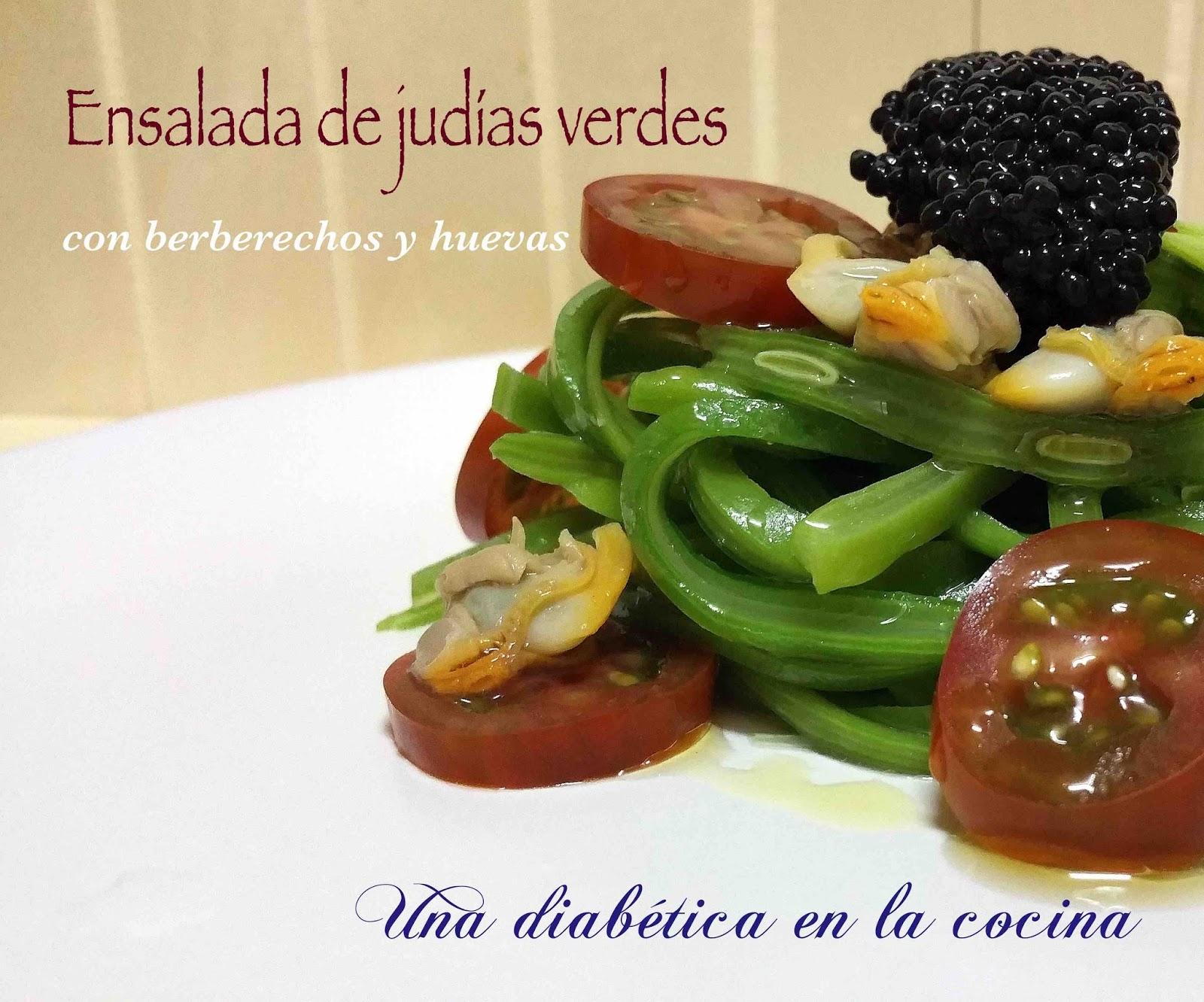 Una diab tica en la cocina ensalada de jud as verdes con - Calorias de las judias verdes ...