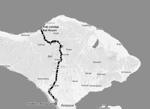 The Bali Hope Ultra Marathon Route 2018