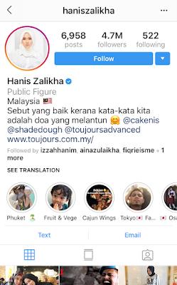 hanis zalikha instagram