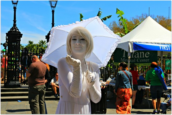 Activities and Attractions in New Orleans, Louisiana | White Lady with Umbrella