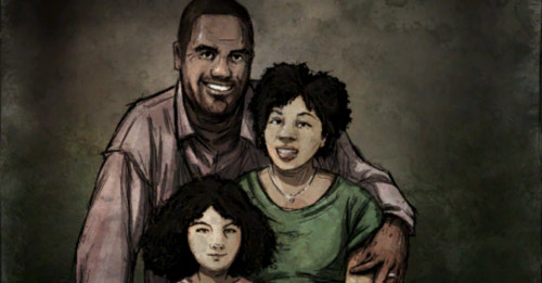 The Walking dead Clementine parents