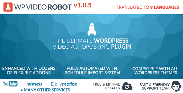 Download - Video Robot Plugin v1.8.5 For Wordpress