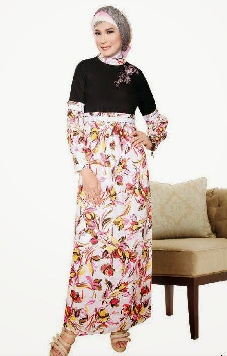 Contoh Model Baju Gamis Brokat Terbaru 2015