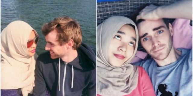 Kisah Cinta Bule Tampan Dengan Muslimah Asal Indonesia Ini Membuat Netizen Kagum