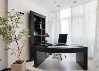Кабинет светло-серого цвета - Дизайн Волгоград
